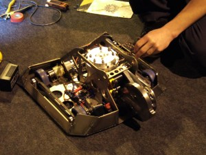 The inside of the Gadget Show robot
