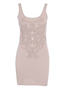 Mink Corded Embellished Tunic from Dorothy Perkins - £22