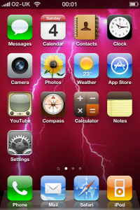 iPhone4 Home Screen