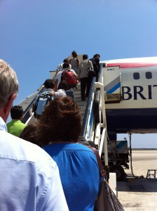 Boarding the plane (finally!!)