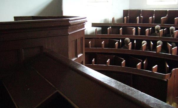 Lincon Castle Prison Chapel - the pulpit
