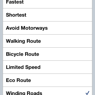 Winding Roads Please TomTom