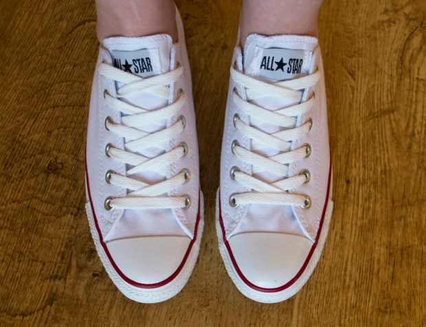 White Converse Low Tops