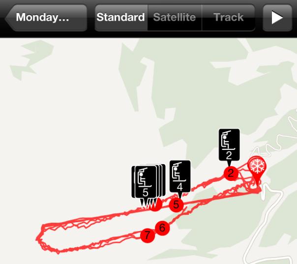 Ski Tracks Map