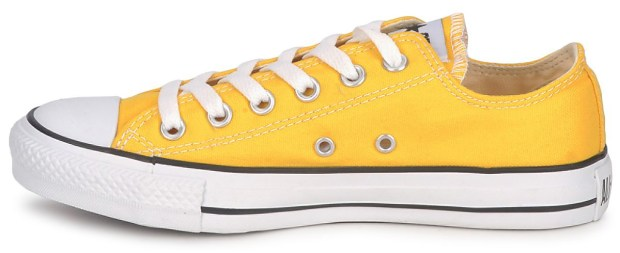 Yellow Converse Low Tops at Spartoo.co.uk