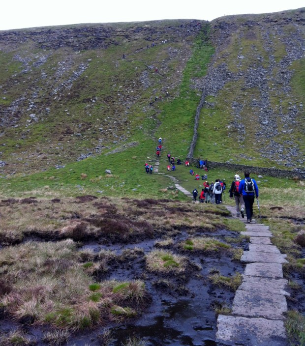 Yorkshire Three Peaks Challenge - Ingleborough - the climb