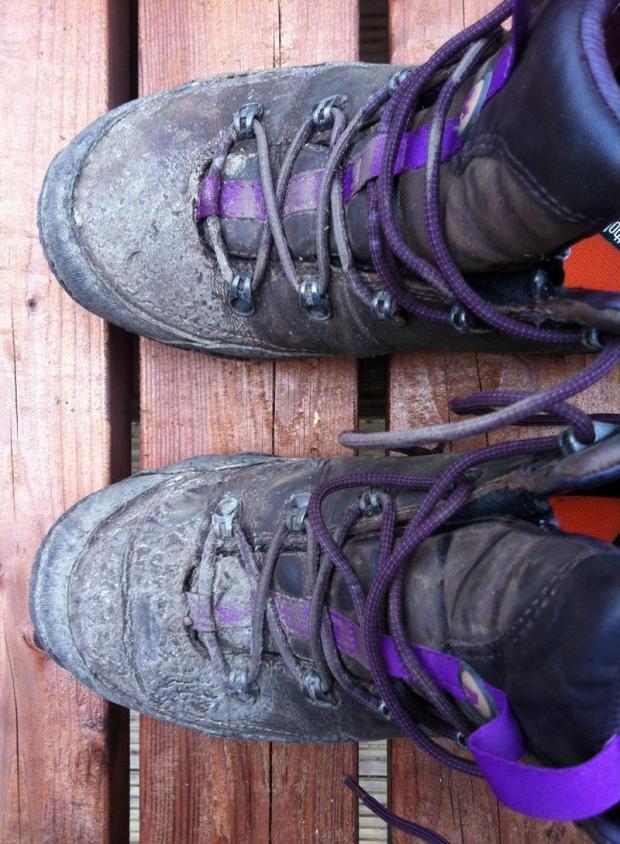 Battered Merrell boots