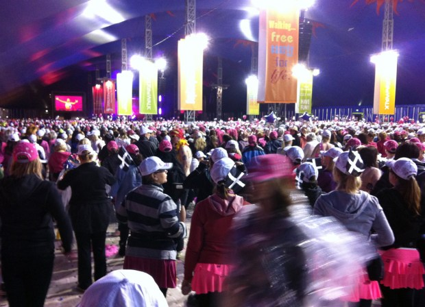 Walk the Walk Moonwalk Pink Tent
