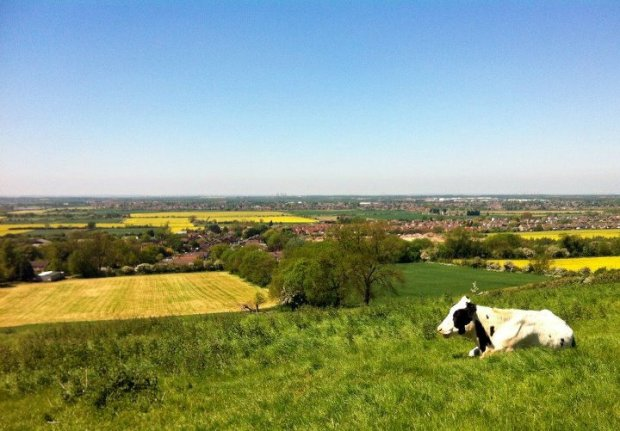View over Lincoln from the Viking Way