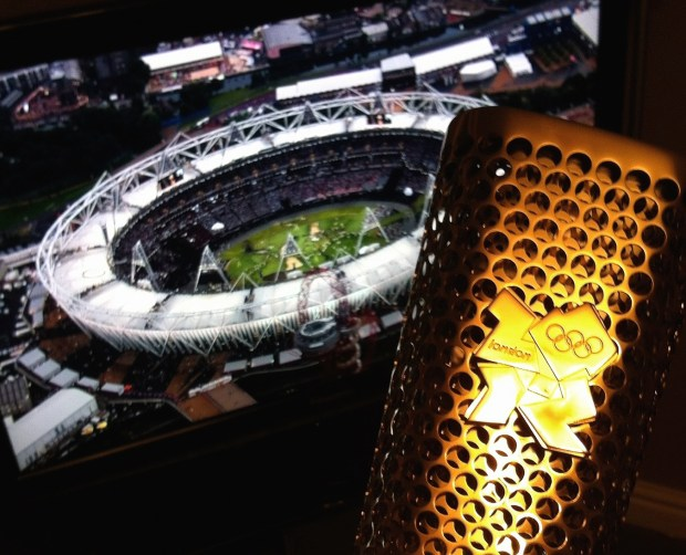 My Torch and the Olympic Stadium