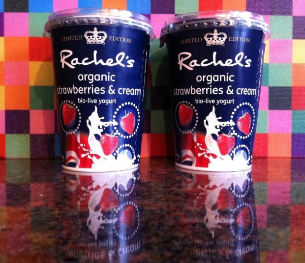 Rachel's Organic Strawberries and Cream Yoghurt