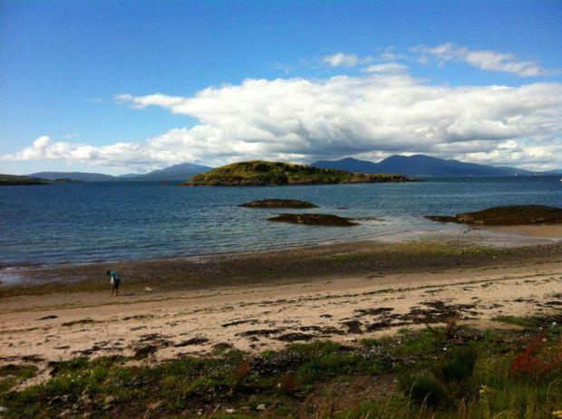 The beach at Oban