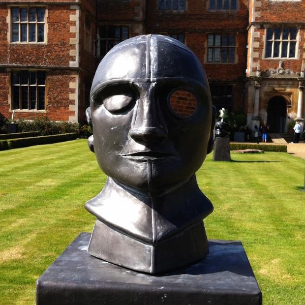 One eyed man at Doddington Hall Sculpture in the Gardens