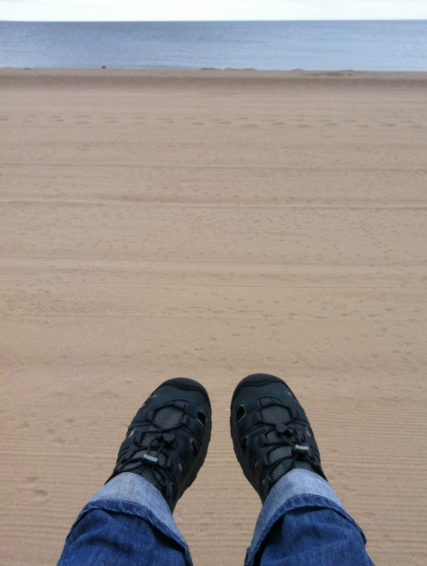 Sandals and Socks on Mablethorpe Beach