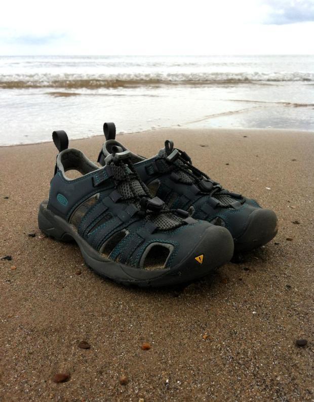 KEEN Turia Sandals on the Beach