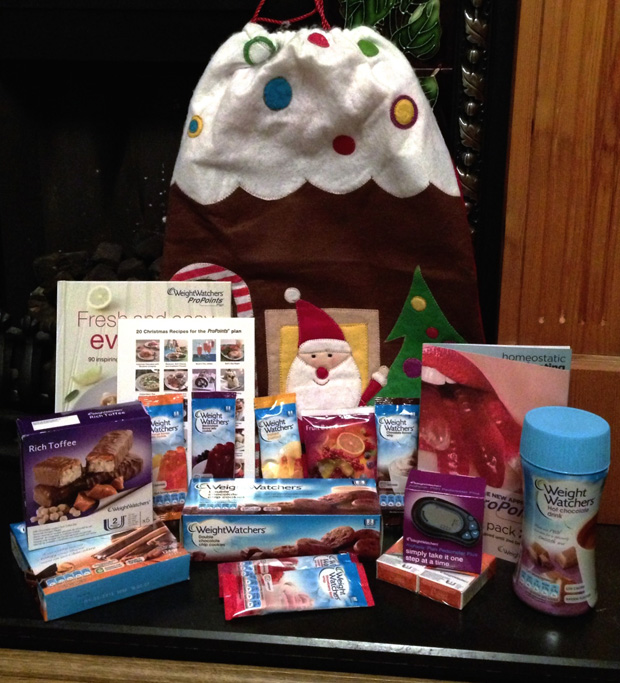 Santa Sack of Weight Watchers Goodies