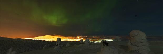 Northern Lights over Ruka Village