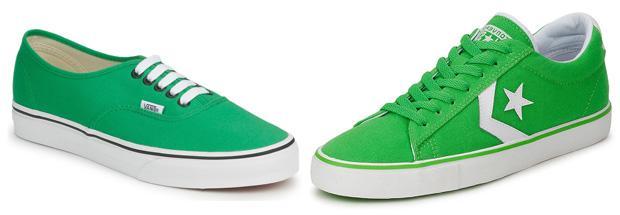 Green Vans vs Converse