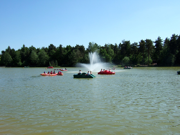 The lake at Center Parcs, Elveden in 2010
