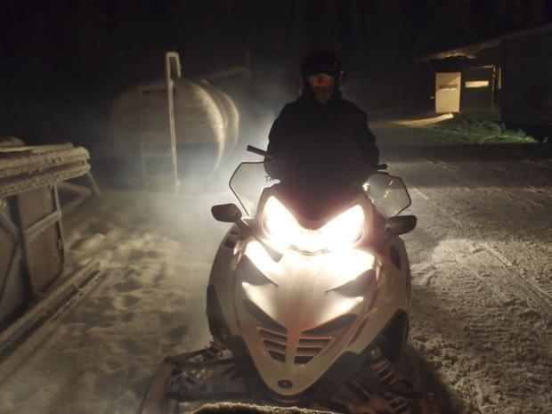 LincsGeek on his Snowmobile