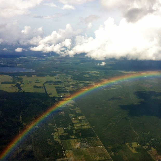 Rainbow from a Plane