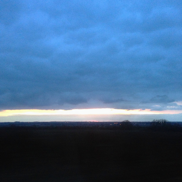 Sunset over Lincolnshire on Easter Sunday
