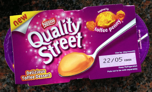 Quality Street Toffee Penny Dessert