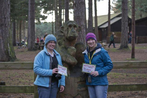 Veronica and me at the end of our Go Ape Experience