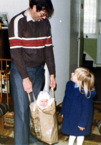 Me with Dad and Veronica in 1983