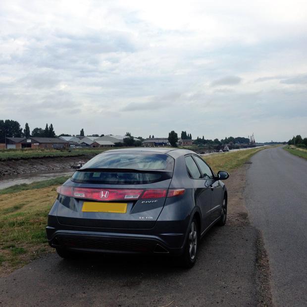 Road Trip to Norfolk - Car at Sutton Bridge