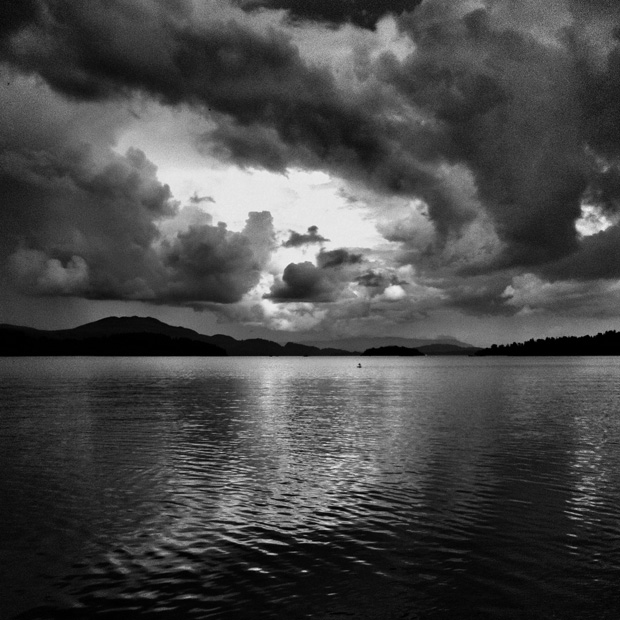 Stormy sky over Loch Lomond at Luss by Zoe Homes