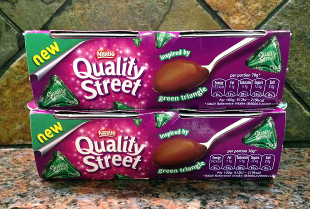Quality Street Green Triangle Dessert