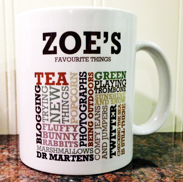 Personalised Favourite Things Mug