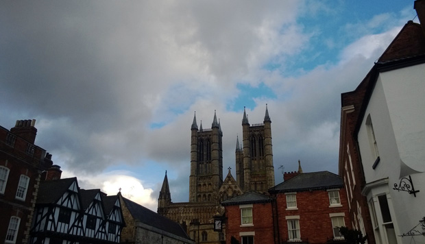 Sky over Lincoln Cathedral