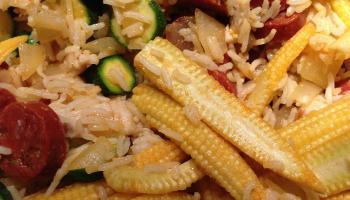 Chicken and Chorizo Rice Bowl