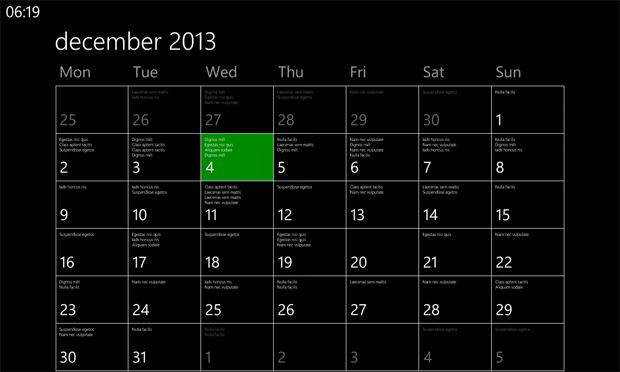 The Nokia Lumia 925 Calendar App