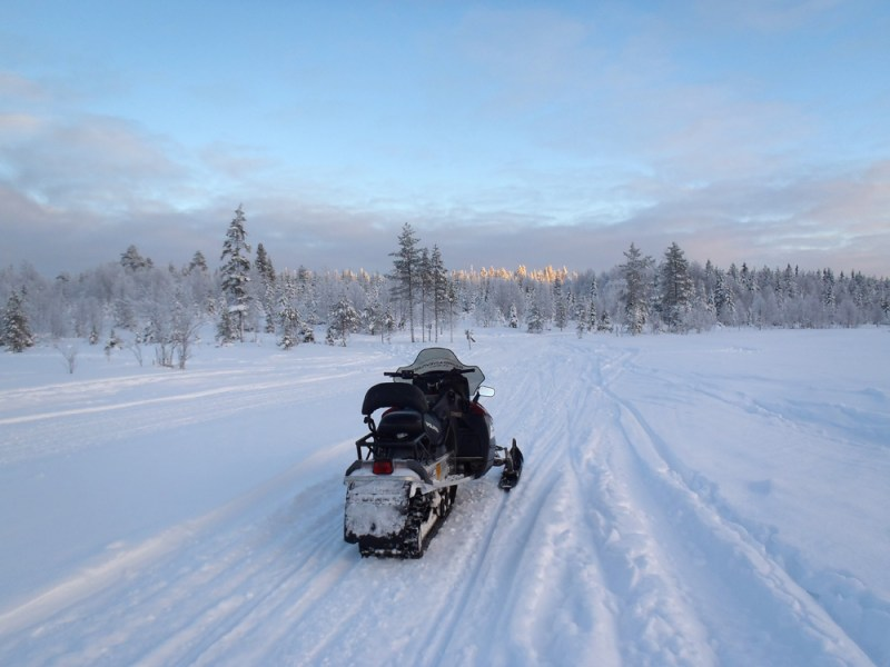 Winter Holiday in Ruka, Finland - Snow Mobiles