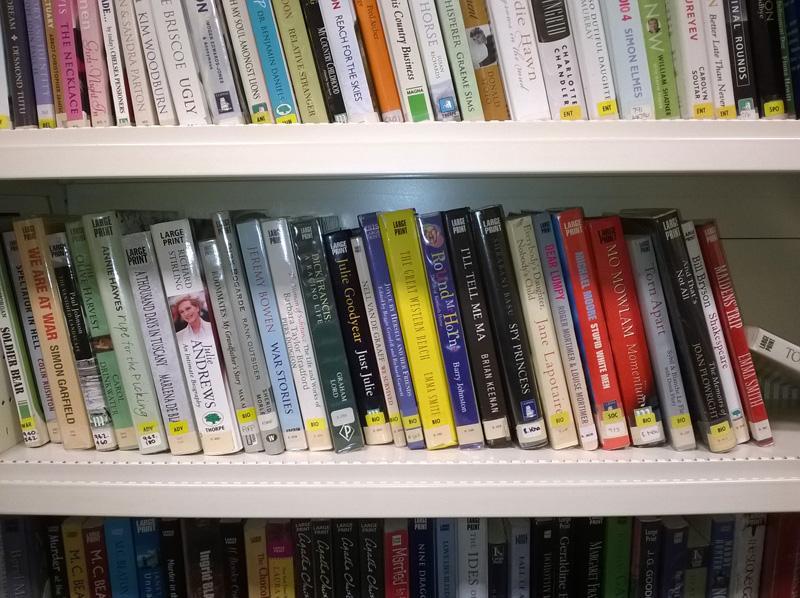 Library books taken on the Lumia 1320