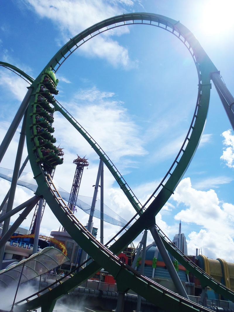 """Fast"" The Hulk, Universal Islands of Adventure Orlando"