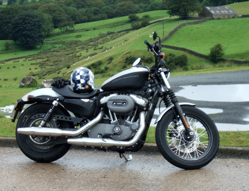 Harley Davidson Sportster Nightster 1200 in the Yorkshire Dales