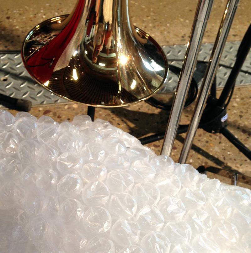Trombone and Bubble Wrap