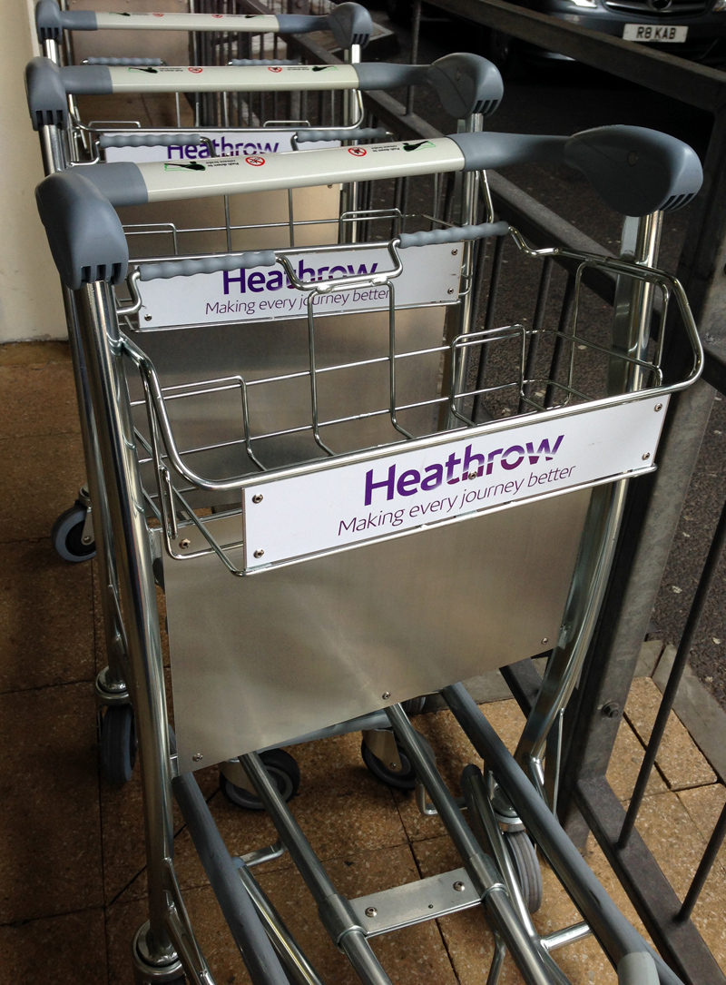 Heathrow Luggage Carts
