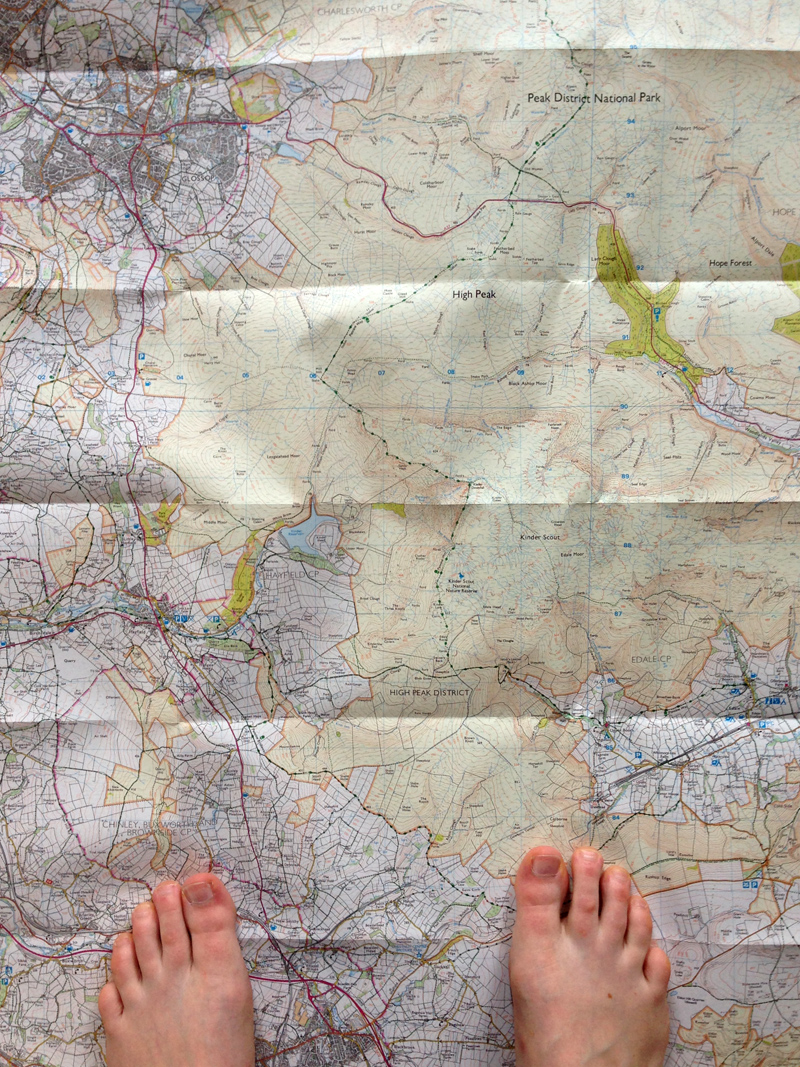 18 July - Route planning for Kinder Scout