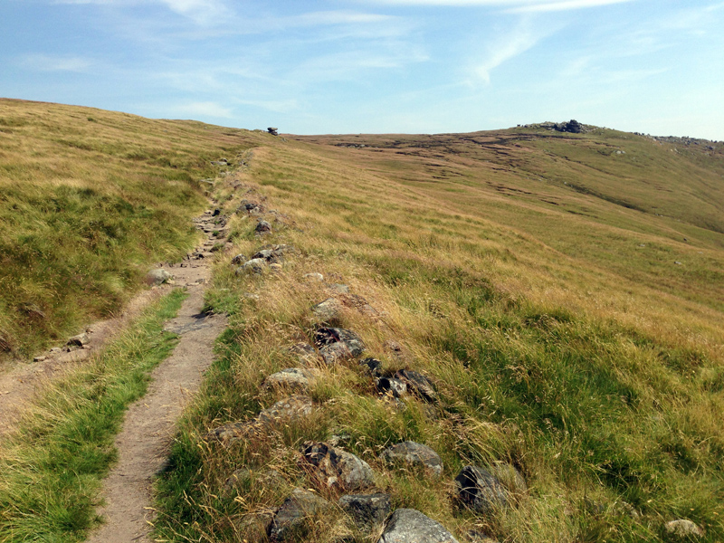 Walking along Kinder Scout