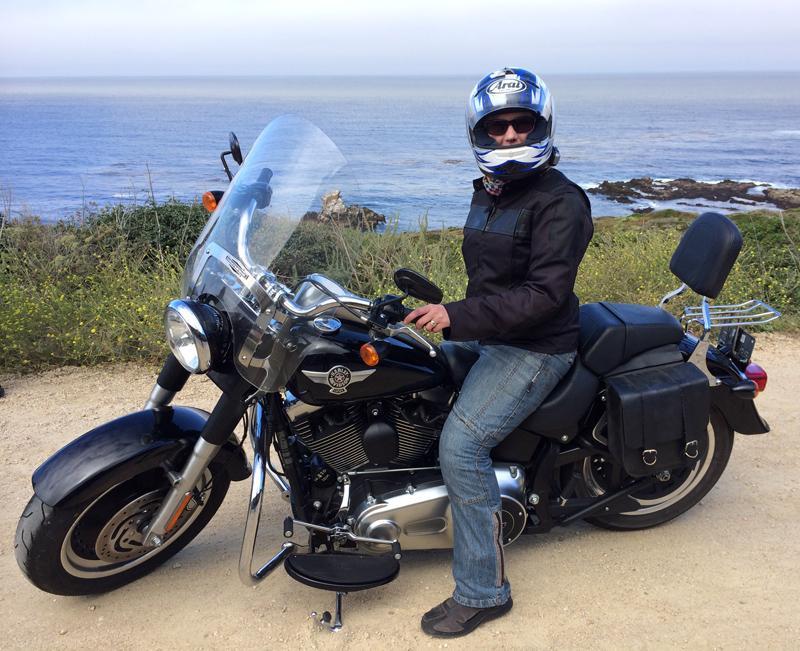 Me on my Eagle Rider Harley Davidson Fat Boy at Malibu