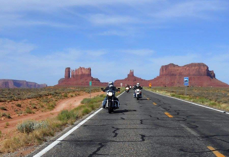 Riding out of Monument Valley (taken by Jeff)