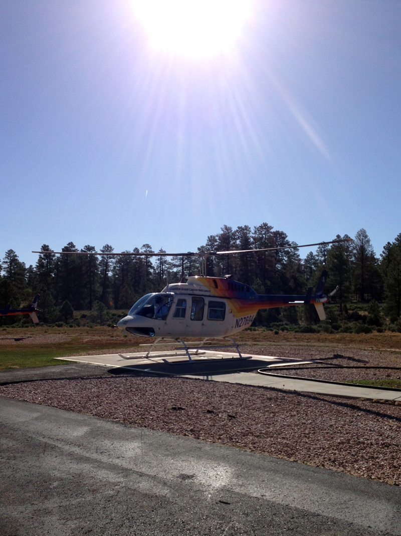 Our helicopter!