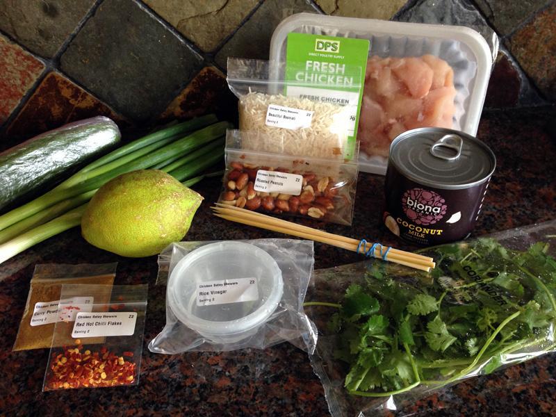 Gousto - Chicken Satay Ingredients