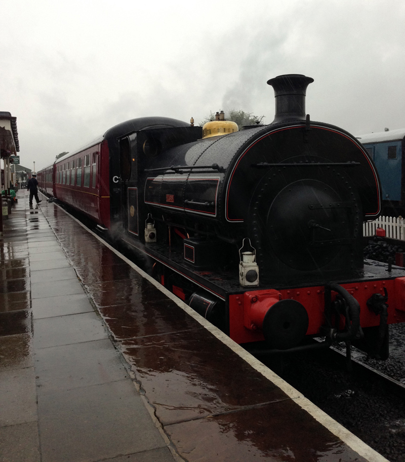 On the Footplate of a Steam Train