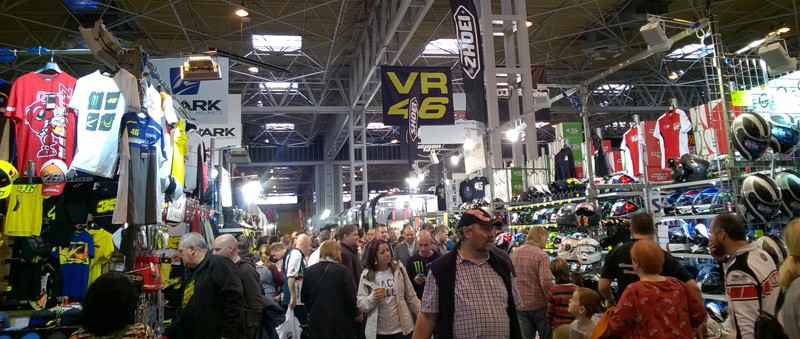Shopping at Motorcycle Live